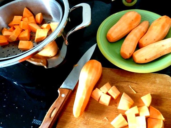 patates douces aux artichauts