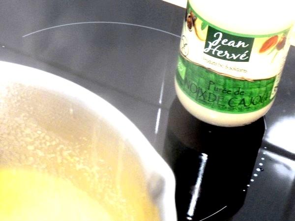 polenta persillée crème poivron cajou