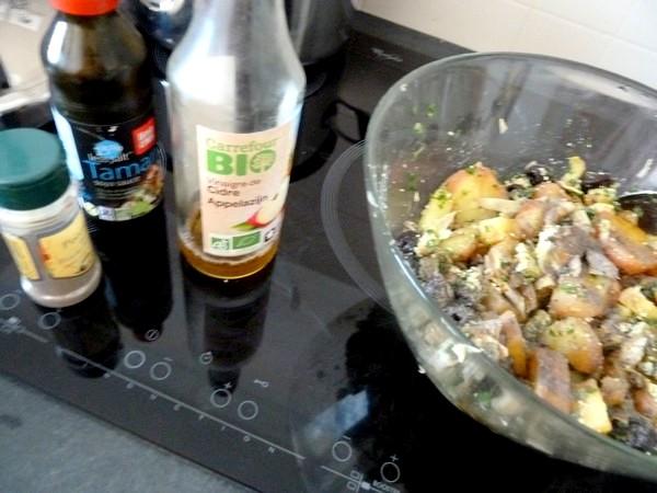salade tiede artichaut tofu pommes de terre