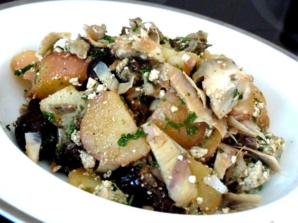 Salade ti de artichaut tofu pommes de terre recette de cuisine alcaline - Pomme de terre germee comestible ...