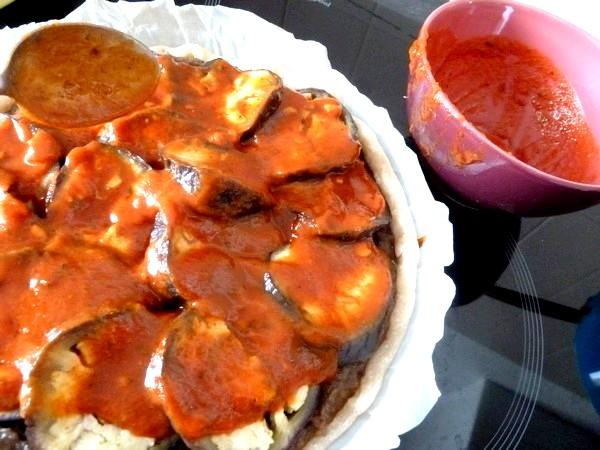 tarte aux aubergines