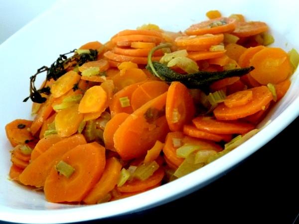 carottes braisées à l'orange