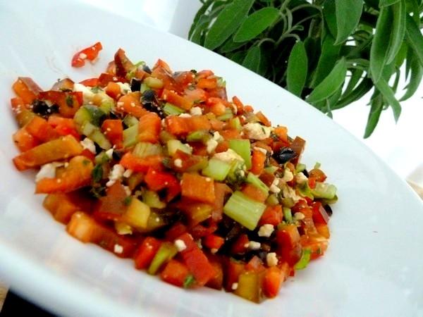 crudites poivron celeri
