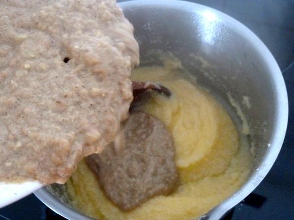 courgettes garnies polenta