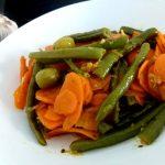 haricots verts et carottes a l'ail