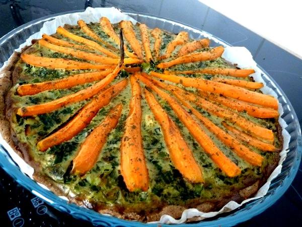 tarte aux cebettes et carottes