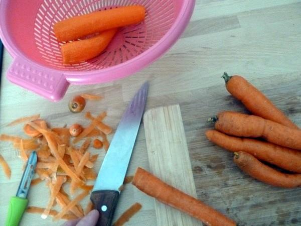 carottes glacées betterave et graines de chanvre