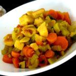 celeri carotte panisse a l'ail