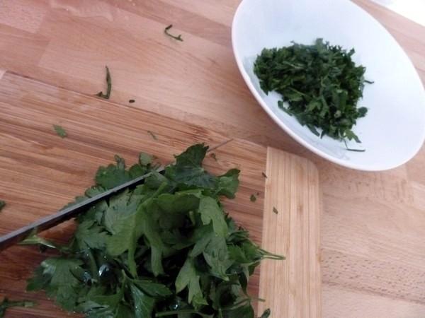 courgettes au persil cru graines de sésame