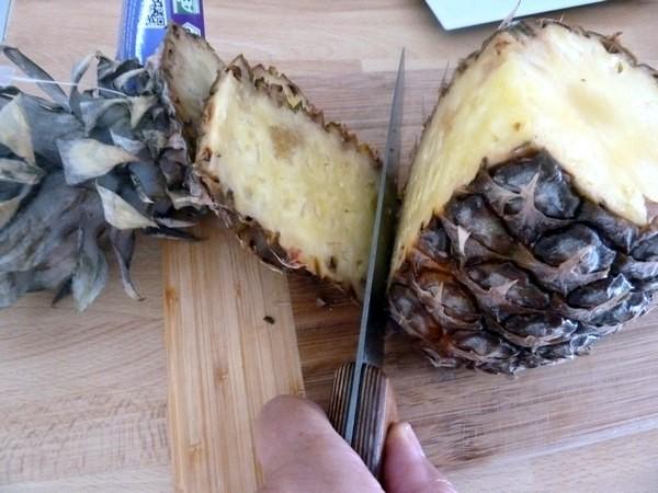 creme biscuitee ananas et framboises