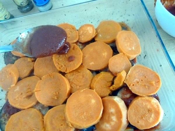 gratin aubergines patates douces