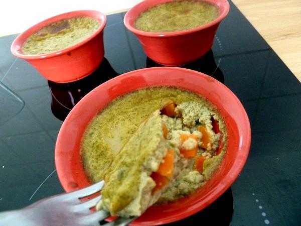 flans carottes thym lait de coco