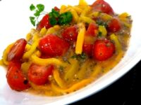 poivrons tomates sauce banane pamplemousse