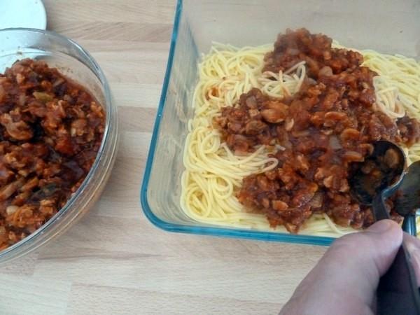 spaghettis bolognaise vegan sans gluten