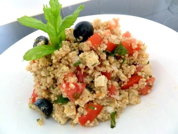 taboulé quinoa tofu