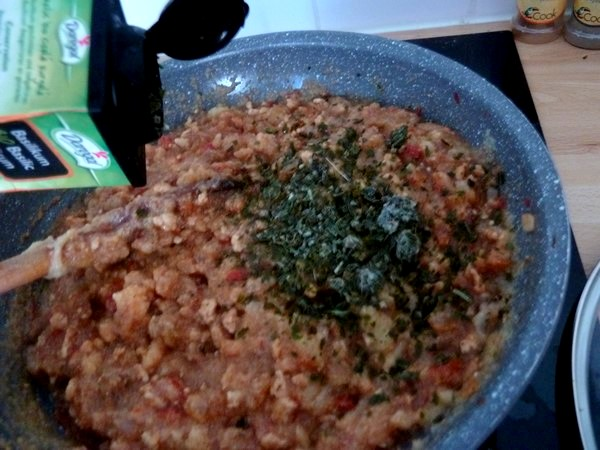 aubergines farcies soja polenta