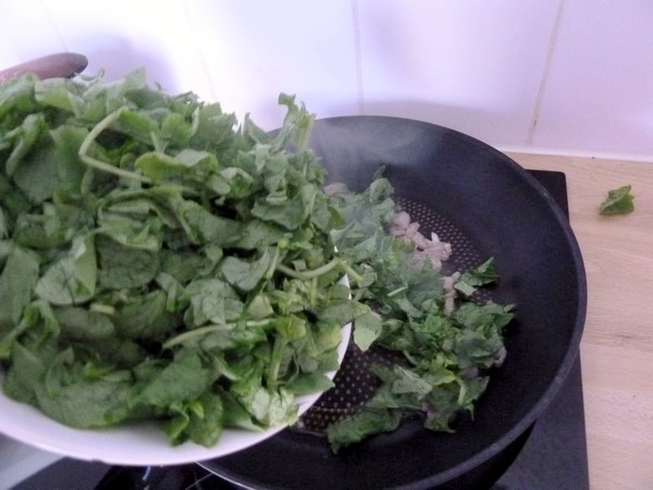 omelette fanes radis pommes de terre chia