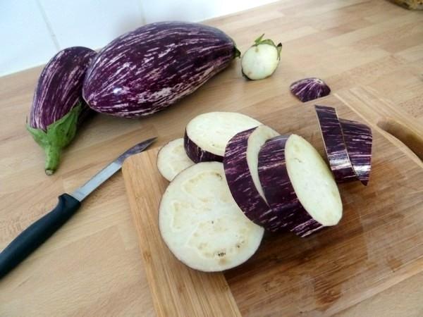 aubergines aux flocons d'avoine
