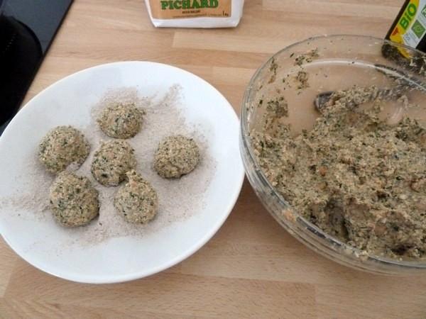 boulettes au tofu et graines de chia