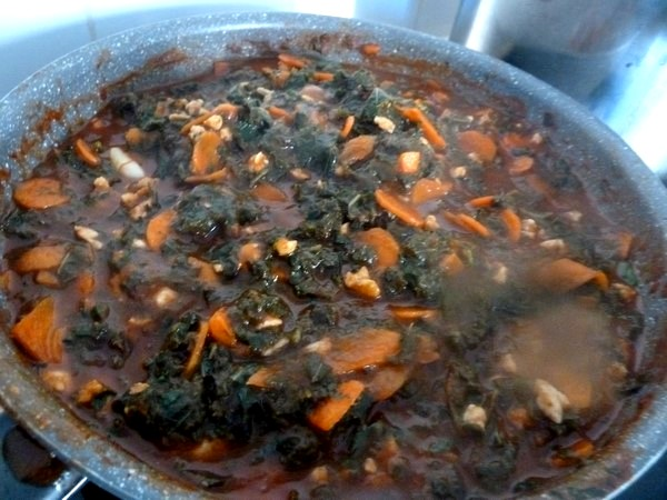 pâtes sans gluten au chou kale
