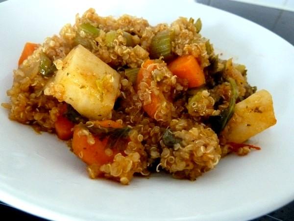 quinoa aux 2 céleris et carottes