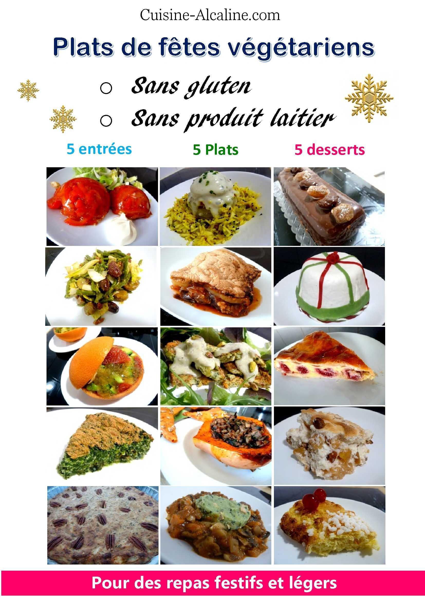 Repas végétariens pour Fêtes 1018