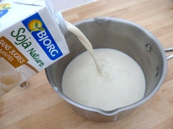 yaourts au soja et myrtilles